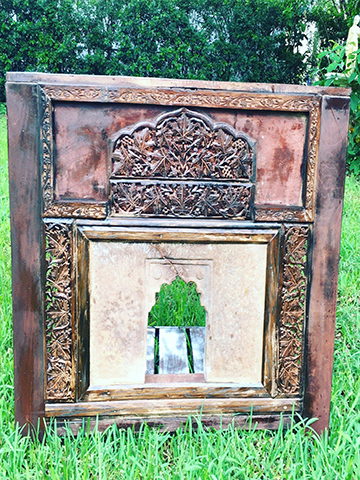 Antique Haveli Stone Top Console Table, entry way, accent table, eclectic, rustic, Jaipur Furniture India