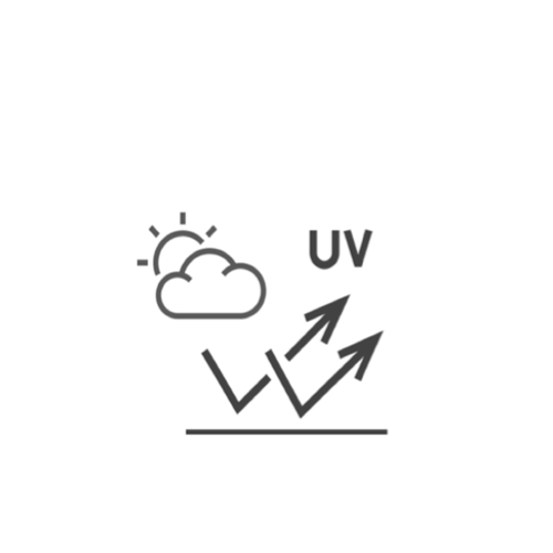Icon representing UVA/UVB protection surfaces reflecting the ultraviolet light harmful wavelengths of the blue light