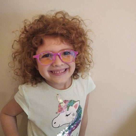 Unicorn Little girl wearing Pink Vaios Optical specs