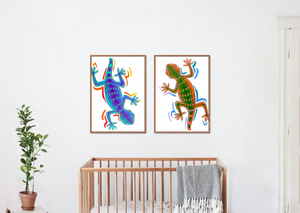 Bright and happy framed prints for kids