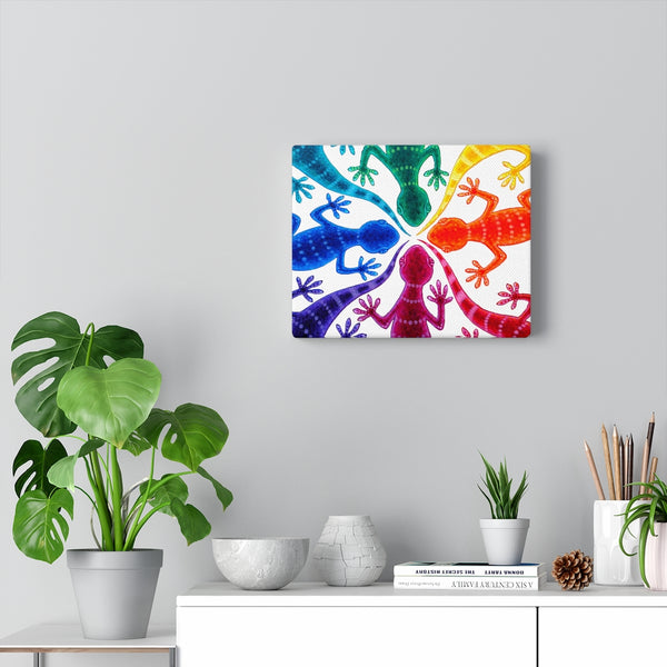 Circle of Geckos - Canvas Art Print