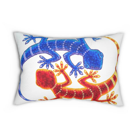 Dueling Geckos - Accent Cushion