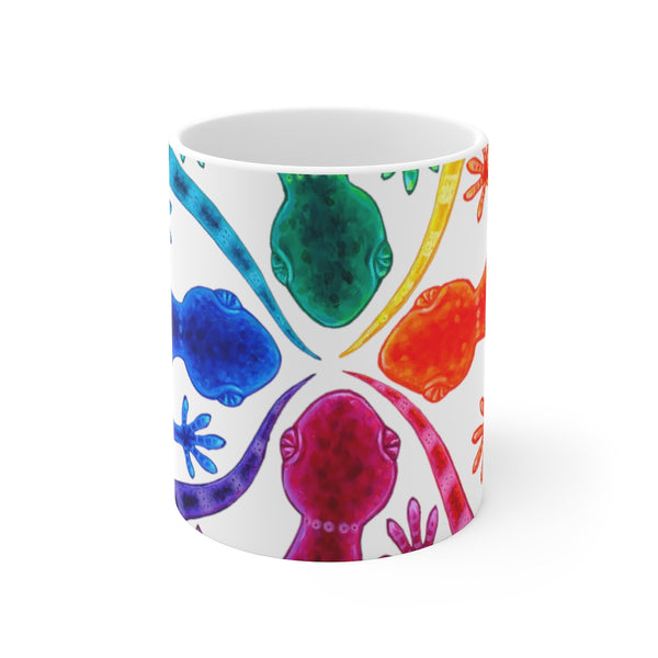 Circle of Geckos Mug 11oz