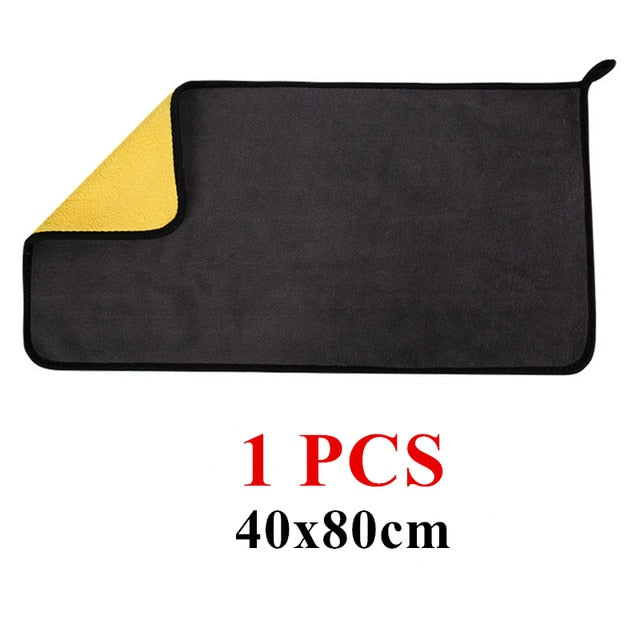 60X160CM 600GSM Car Care Polishing Wash Towels Plush Microfiber Washing Drying Towel Strong Thick Car Cleaning Cloths rags