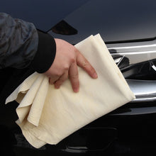 Load image into Gallery viewer, Irregular New Chamois Leather Car Cleaning Cloth Microfiber Suede Absorbent Washing Towel Auto Care Styling Tools