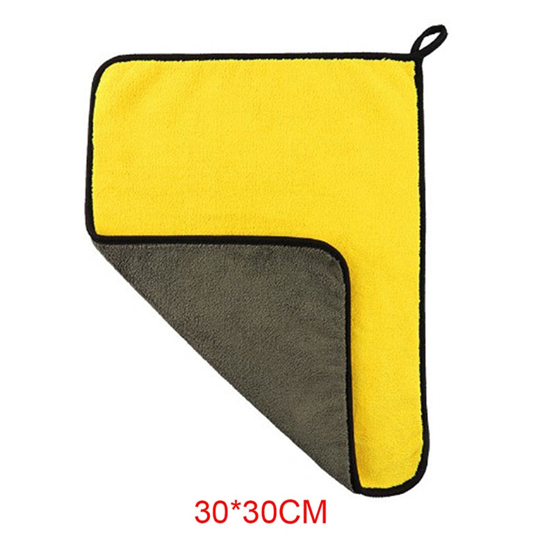 30x30/40/60CM Microfiber Car Cleaning Drying Cloth Hemming Car Care Cloth Detailing Car Wash Towel Auto Wash Towel