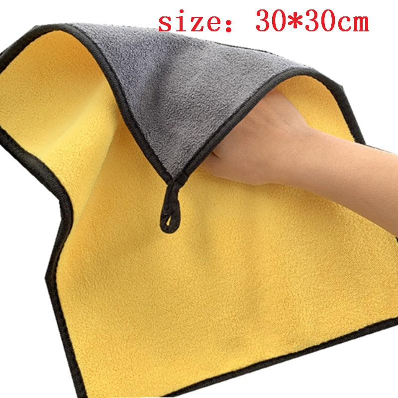 30x30/60CM Car Wash Microfiber Towel Car Styling Polishing Wash Towel Drying Cloth Hemming Auto Cleaning Cloth For Toyota