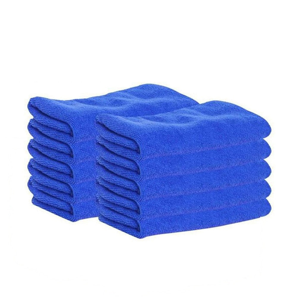 10Pcs Car Wash Car Cleaning Cloth Auto Care Cloths Cleaning Duster Microfiber Towel Car Cleaning Supplies