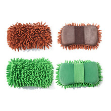 Load image into Gallery viewer, Car Wash Auto Hand Soft Towel Brush Microfiber Chenille Washing Gloves Coral Fleece Sponge Car Washer Auto Cleaning Accessories