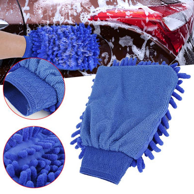 Chenille Car Wash Gloves Ultrafine Microfiber Car Motorcycle Care Cleaning Brushes and wash towel sponge Car Styling accessories