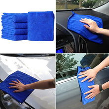 Load image into Gallery viewer, Auto Car 5PC Blue Soft Absorbent Wash Cloth Car Auto Care Microfiber Cleaning Towels Durable Car Cleaning Auto Cleaner Car Brush