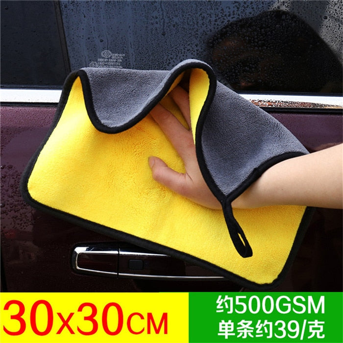 mling Super Absorbent Car Wash Microfiber Towel Car Cleaning Drying Cloth Extra Large Size 30x30/60 cm Drying Towel Car Care