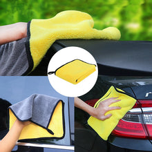 Load image into Gallery viewer, 1pc Car Wash Microfiber Towel Car Cleaning Drying Cloth Hemming Car Care Cloth Detailing Car Wash Towel Absorbent Towel for Car