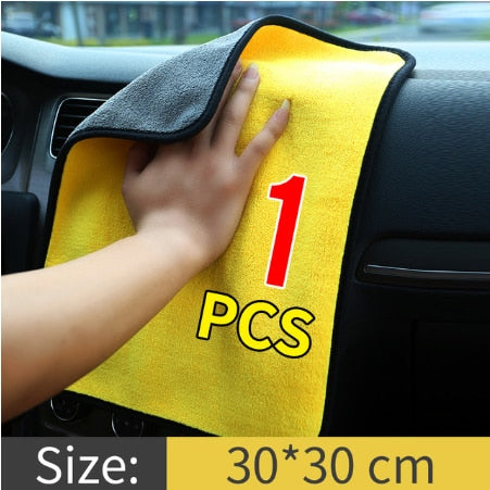 Car Wash Microfiber Towel Car Cleaning Drying Cloth Hemming Car Care Cloth Car Detailing Car Wash Towel For Toyota Car Accessory