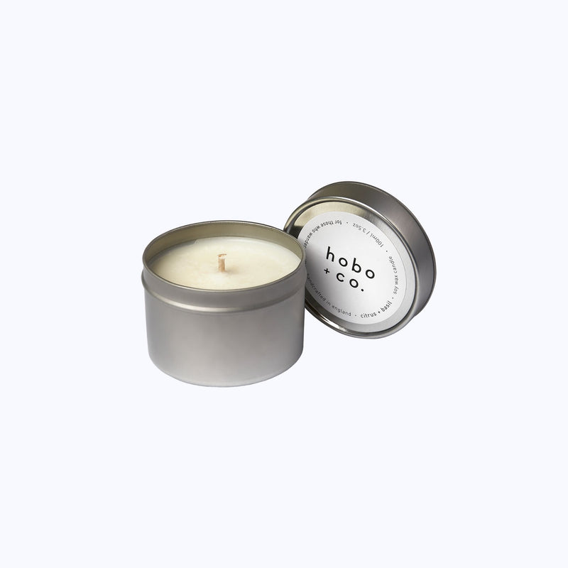 Citrus and Basil Travel Tin Candle