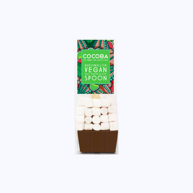 Vegan Marshmallow Milk Chocolate Hot Chocolate Spoon
