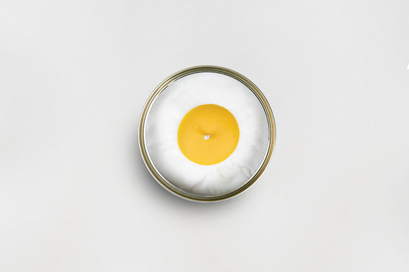 Vanilla Egg Candle Can inside gift