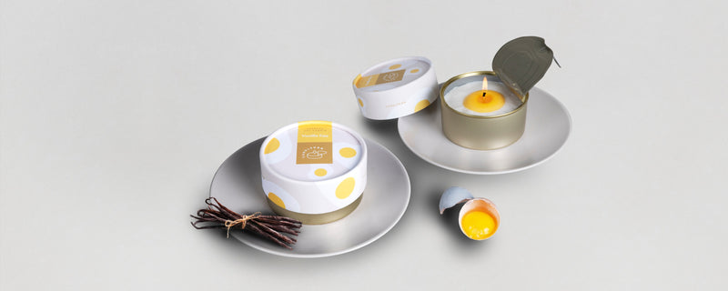 Vanilla Egg Candle Can close and open gift