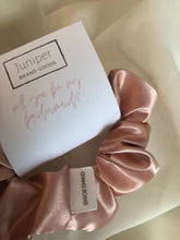 Load image into Gallery viewer, Blush Satin Bridesmaid Scrunchie