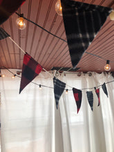 Load image into Gallery viewer, Red Buffalo Plaid + Black Flag Garland