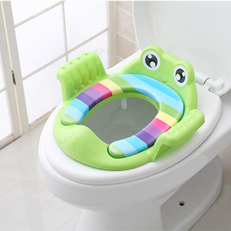 Baby Toilet Potty Seat Children Potty Safe Seat With Armrest for Girls Boy Toilet Training Outdoor Travel Infant Potty Cushion
