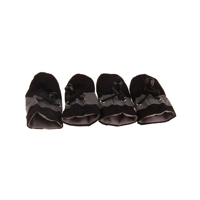 4pcs Antiskid Puppy Shoes Pet Protection Soft-soled Pet Dog Shoes Summer/Winter Waterproof Prewalkers Soft Supplies Pet Paw Care