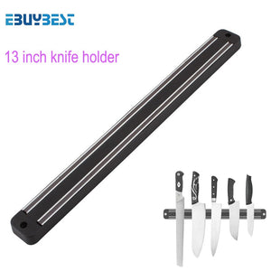 High Quality 13 inch Magnetic Knife Holder Wall Mount Black ABS metal Knife For Placstic Block Magnet Knife Holder