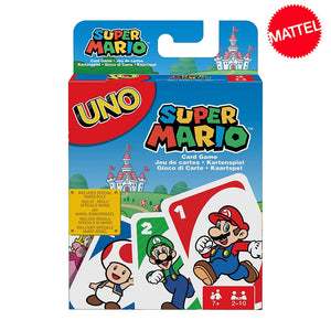 Mattel Games UNO Super Mario Card Game Family Funny Multiplayer Board Game Poker Playing Cards Kids Toys
