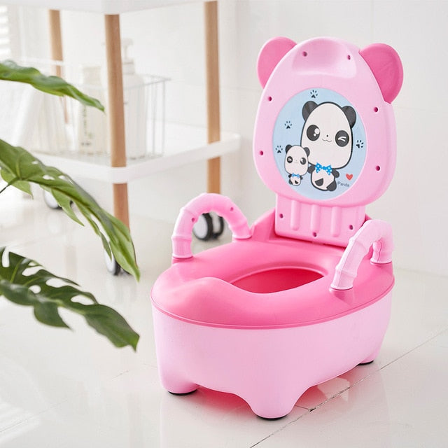 Children's Pot Soft Baby Potty Plastic Road Pot Infant Potty Training Cute Baby Toilet Safe Kids Potty Trainer Seat Chair WC
