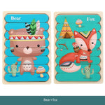 Kids Brain Wooden Toy Double-sided 3D Puzzle Creative Strip Puzzle Telling Stories Stacking Jigsaw Montessori Toy for Children