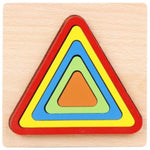 Montessori Cartoon Animal Educational Wooden Beaded Geometry Digital Clock Puzzles Gadgets Matching Clock Toy For Children