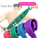 Magic Silicone Brushes Bath Towels Body Brush Bath Belt Exfoliating Back Brush Belt Wash Skin Household Clean Shower Brushes CSV