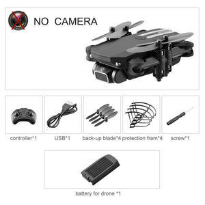 XKJ 2020 New Mini Drone 4K 1080P HD Camera WiFi Fpv Air Pressure Altitude Hold Black And Gray Foldable Quadcopter RC Dron Toy
