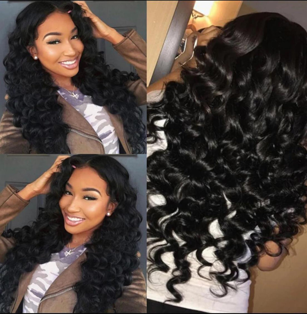 BeuMax Hairs Brazilian 13x4 Lace Front Human Hair Wigs - Loose Wave