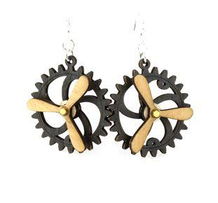 Kinetic Gear Earrings 5006F