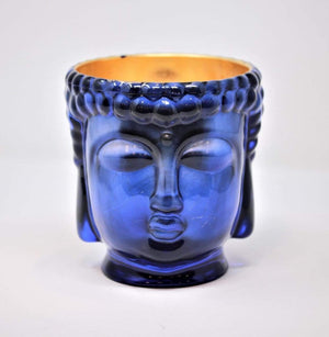 Caesonia | Sapphire Blue Caesonia Glass Buddha Lined with 24K Gold