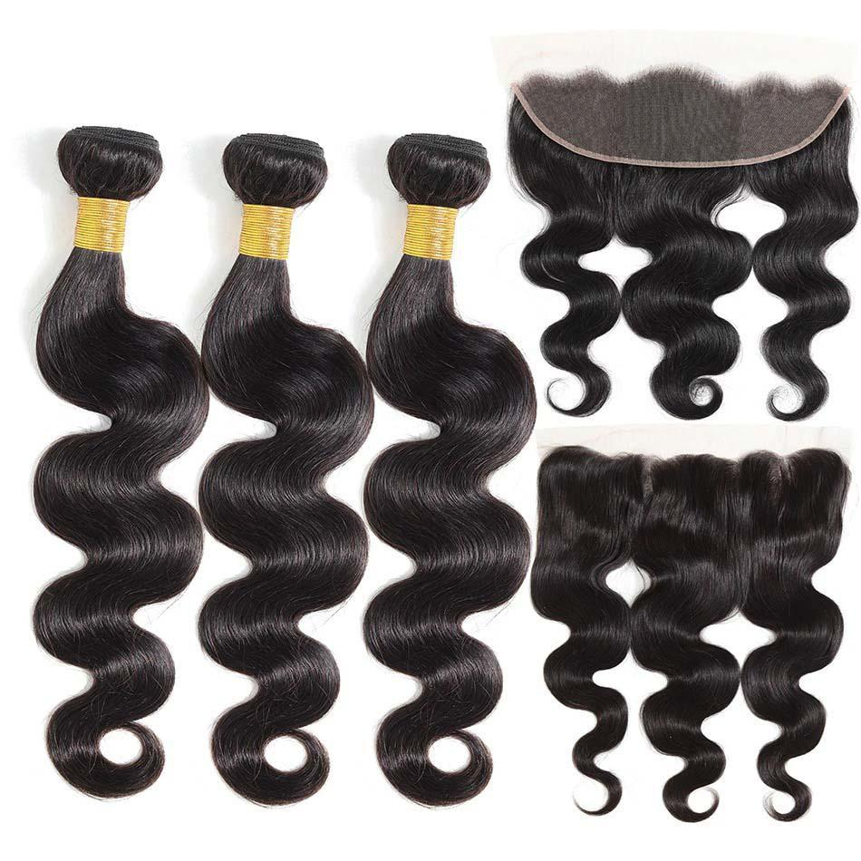 BeuMax Hairs 8A Grade Brazilian Human Hair Extension with Frontal,
