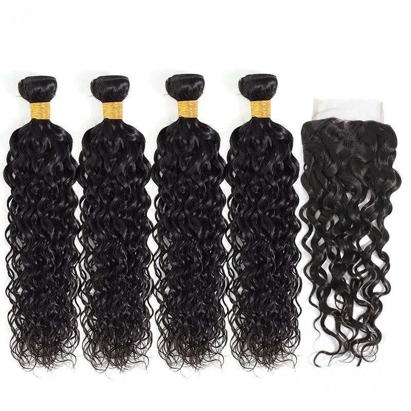 8A Grade Brazilian Human Hair Extension with Closure