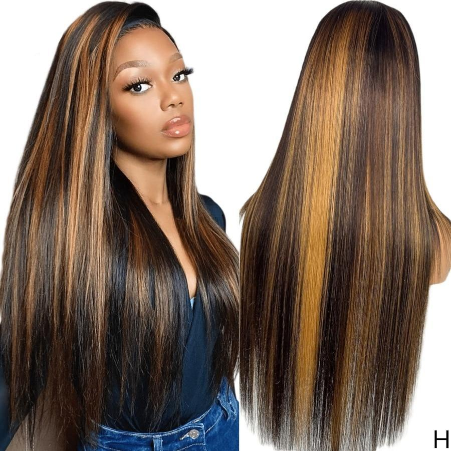 BeuMax Hairs Brazilian 4x4 PU Invisible Knots Lace Front Colored