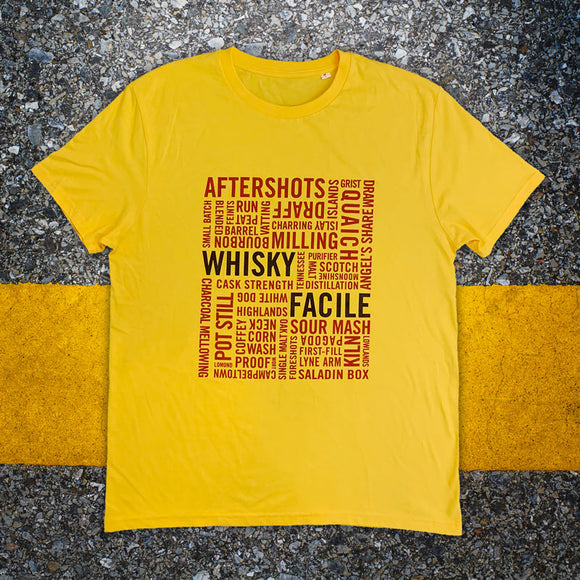 WHISKYFACILE Word Cloud T-shirt
