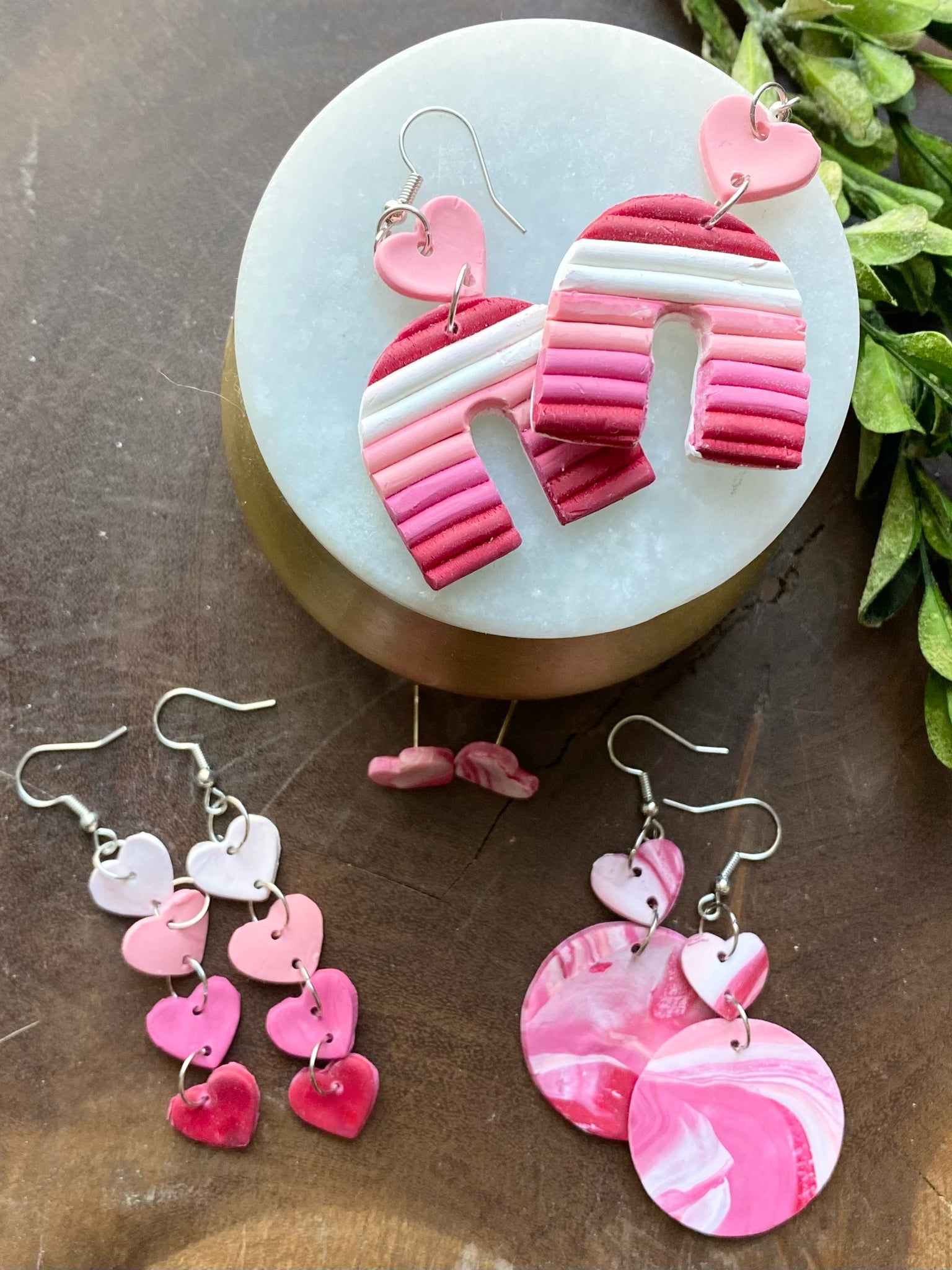 Terrazzo Clay Hearts Valentine/'s Heart Clay Stud Earrings Candy Heart Studs Resin Heart Earrings Valentine/'s Day Stud Packs