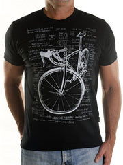 Cognitive Therapy Mens Black Cycling Tee