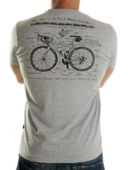 Bike Maintenance Mens Grey T Shirt | Cycology Clothing