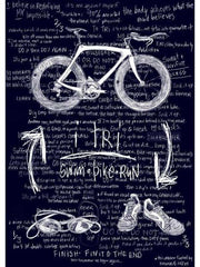 Itri - Womens Navy Triathlon Tee | Cycology Clothing