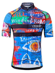 8 Days Mens Blue Cycling Jersey | Cycology Clothing AUS