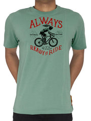 Always Ready to Ride Mens Green Cycling T-Shirt | Cycology AUS