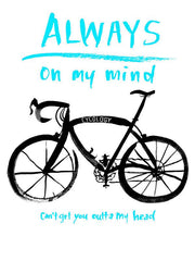 Always on my Mind Grey Mens Cycling T shirt