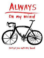 Always On My Mind Mens Navy Cycling T shirt