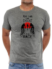 Always a Race Mens Dark Grey Cycling T-Shirt | Cycology AUS
