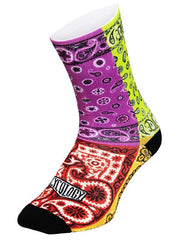 Bandana Lime Cycling Socks | Cycology Clothing AUST